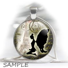 """Vintage fairies silhouettes with old letters - bottle cap images - 1'' circles, 25mm, 30mm, 1.25"""", 1.5"""" for Jewelry Making, BUY 2 GET 1 FREE by BonCraft on Etsy"""