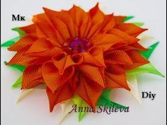 Цветок канзаши. МК. Flower kanzashi