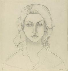 Self Portrait  by Françoise Gilot (French b. 1921)