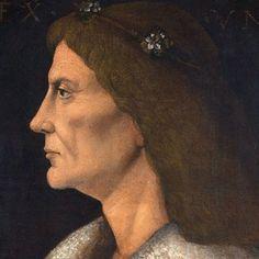 King Matthias (I.), Corvinus, of Hungary - Andrea Mantegna as art print or hand painted oil. Matthias Corvinus, Raven King, Royal Crowns, Canvas Prints, Art Prints, Crown Jewels, 15th Century, Female Images, Mona Lisa