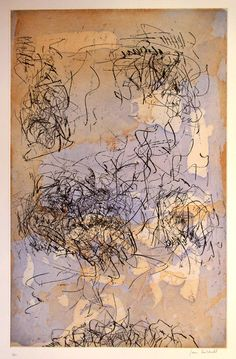 Joan Mitchell, unflower 5. Original color etching, 1972.