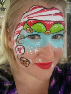 Elf hat face painting