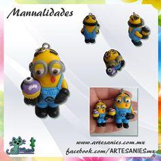 Artesanies #clay #minion #cupcake #polymer #manualidades www.artesanies.com.mx