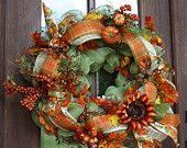 Items similar to Pumpkin Fall Wreath custom monogram a,b,c,d,e,f,g,h,i,j,k,l,m,n,o,p,q,r,s,t,u,v,w,x,y,z Halloween and Thanksgiving on Etsy