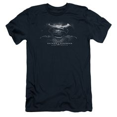 Batman vs Superman: BW Logo Slim Fit T-Shirt