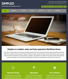 Simpleo - a modern, clean and fully responsive WordPress theme.