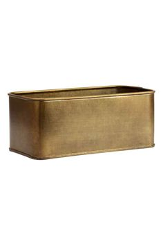 Metal storage box: Rectangular metal storage box. Size 10x12x25 cm.