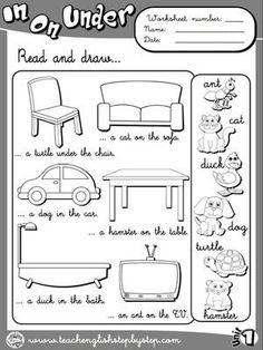Place Prepositions - Worksheet 1 (B&W version)   Teacher Resources ...