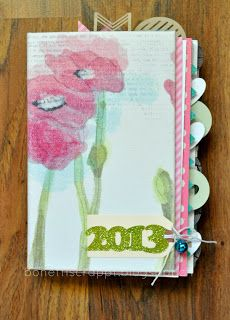 Year in a book Album 2013 #Silhouette Cameo