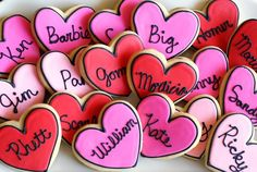 true love cookies...simple decorated cookies for valentine's day featuring some of my favorite couples! ♥