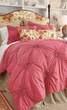 soft-surroundings-bella-smocked-coverlet... Great change from the white white white bedrooms