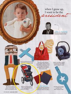 Baby Trend was featured in the September issue of Babytalk! If your baby wants to grow up to be the president Babytalk wants them in the Baby Trend Expedition SX Jogging Stroller in Americana! http://www.babytrend.com/