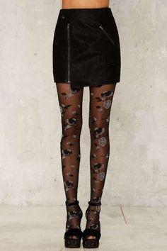 97e218fc85a22 Darkness Falls Floral Tights Adult Fancy Dress, Net Fashion, Fashion Tights,  Tights Outfit