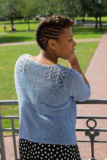 Lillium by Lynda Rossetti, knit in Louet Euroflax Sport Weight
