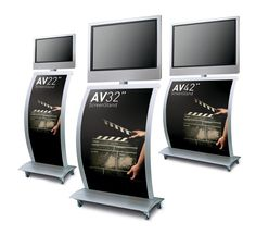 Screen Stand - Graphic Plasma TV Display Stand (Screen not included) Flat Screen Display, Flat Screen Tv Stand, Tv Display, Display Stands, Exhibition Stand Design, Exhibition Display, Tv Stands Uk, Media Stands, Mobile Tv Stand