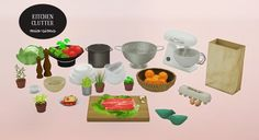 Mio-Sims: Kitchen clutter conversions • Sims 4 Downloads