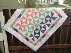 Halloween pinwheel baby toddler quilt by GreenCottageQuilts