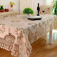 Toalha de mesa de croché