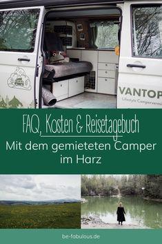 Wir haben ein verlängertes Wochenende im Harz mit dem Miet-Camper verbraucht, hier erfahrt ihr unsere Route und was wir alles gesehen haben, wie es uns im Van gefallen hat, wie viel das Ganze gekostet hat und ein paar häufige Fragen zum Van-Urlaub beantworte ich auch! #campervan #mietvan #reisetagebuch #harz #reisen #reisetipps #deutschlandreise Campervan, Van Life, Glamping, Tricks, Road Trip, German, Explore, Group, World