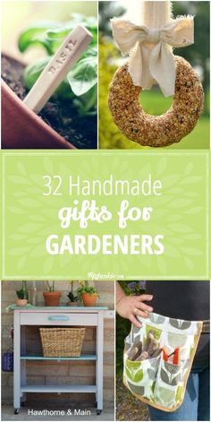 Backyard Garden Wall 32 Handmade Gifts for Gardeners.Backyard Garden Wall 32 Handmade Gifts for Gardeners Diy Holiday Gifts, Christmas Diy, Craft Gifts, Diy Gifts, Do It Yourself Organization, Diy Cadeau, Diy Gift Baskets, Garden Gifts, Handmade Home Decor