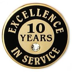 d4de89b6409 Excellence In Service Pin - 10 Years .  4.99 Brooches