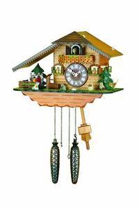 super cute owl, dog and cuckoo  Chalet Cuckoo Clocks Cuckoo Clock Quartz-movement Chalet-Style 25cm by Trenkle Uhren