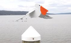 Flying Pelican  Lawn ornament by mankurt4 on Etsy, $49.00