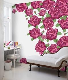 rose garden mural (scandinavian wallpapers)