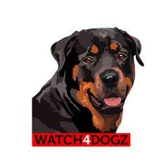 Rottweiler sticker set van 2 stickers van watch4dogz op Etsy