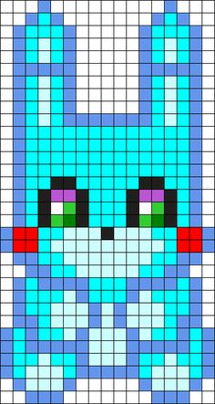 Toy Bonnie Plush Perler Bead Pattern / Bead Sprite
