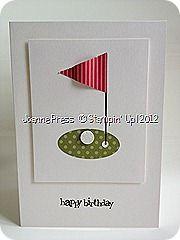 cute golf card
