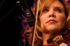 Alison Krauss . . . . one of the purest voices out there. Everyone who is anyone wants to do a duet with her, and many have with incredible results!
