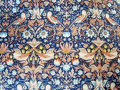 1.07m x 1.37m Liberty Print Tana Lawn 'Strawberry Thief' Cotton Dress Fabric