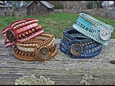 ▶ West County Cuff: Multi-Row Wrap Bracelet - YouTube; excellent intructions