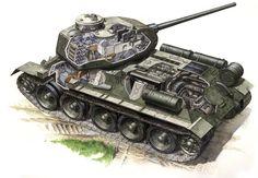 Medium Tank by Steven Zaloga - Read Online T 34 85, Patton Tank, Military Drawings, Tank Armor, Military Armor, Tank Destroyer, War Comics, Ww2 Tanks, World Of Tanks