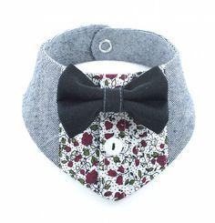 Dog bandana shirt look flower pattern 35cm