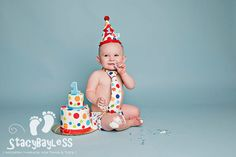 How cute is this little guy?!  This party outfit is so adorable for a carnival or circus theme birthday party!  Available at www.StacyBayless.com