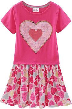 Kids Girls Baby Unicorn Long T Shirt Tops Sleeveless Casual Party Mini Dress UK