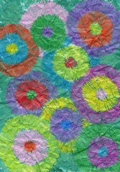 Wax crayon 'batik' - simple but effective