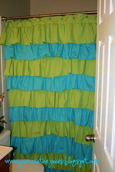 $9 ruffle shower curtain