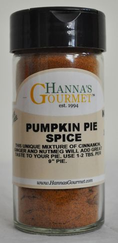 PUMPKIN PIE SPICE: This unique mixture of Cinnamon, Ginger and Nutmeg will add a…