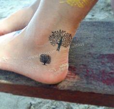 Tree of live temporary tattoo- Tree tattoo ,Waterproof tattoo sticker for women by VisusFantasy on Etsy https://www.etsy.com/listing/228247065/tree-of-live-temporary-tattoo-tree