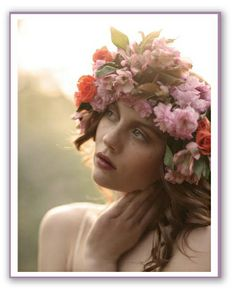Floral head wreaths for mother daughter portrait