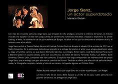 """""""Jorge Sanz, un actor superdotado"""" texto contraportada del libro"""