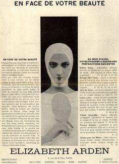 en face de votre beaute, 1932, elisabeth arden, femina magazine