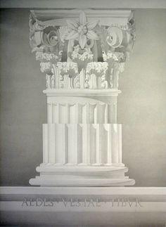 """Corinthian Order  Temple of Vesta, Tibur    Pencil and Ink Wash,    22"""" X 30""""    Fabriano Artistico, 300gm"""