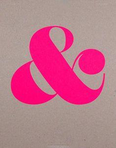 Hot pink Ampersand
