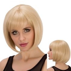 Straight Short Full Bang Light Blonde Spiffy Synthetic Wig For Women #>=#>=#>=#>=#> Click on the pin to check out discount price, color, size, shipping, etc. Save and like it!