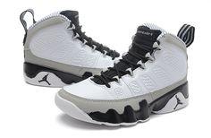 "cheaper d8ba0 99338 Air Jordan 9 Retro ""Barons"" White Black-Natural Grey (Size 36~47).  hoopjordan.com"