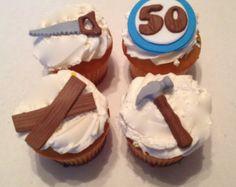 Handyman Inspired Fondant Cupcake Toppers